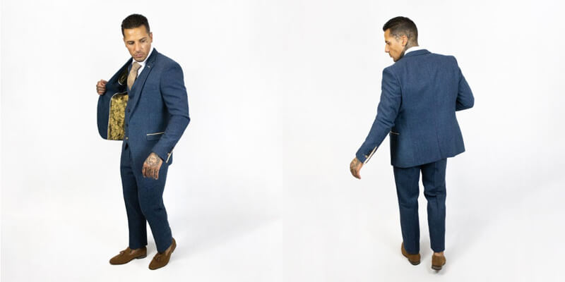 Marc Darcy Dion Blue Suit