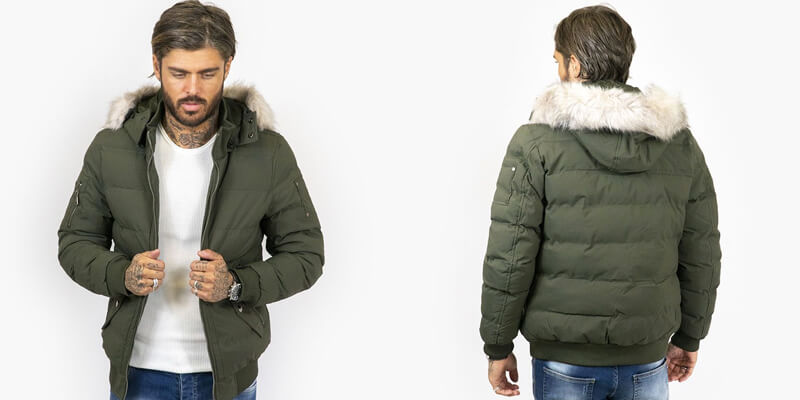 Green Faux Fur Hooded Jacket