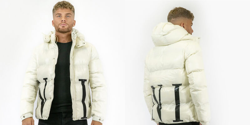 White PVC Quilted Jacket