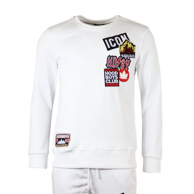White Patchwork Inspired Two Piece Tracksuit