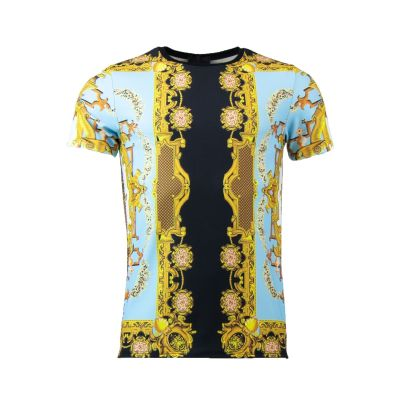 Turquoise Gold Inspired Design T-Shirt