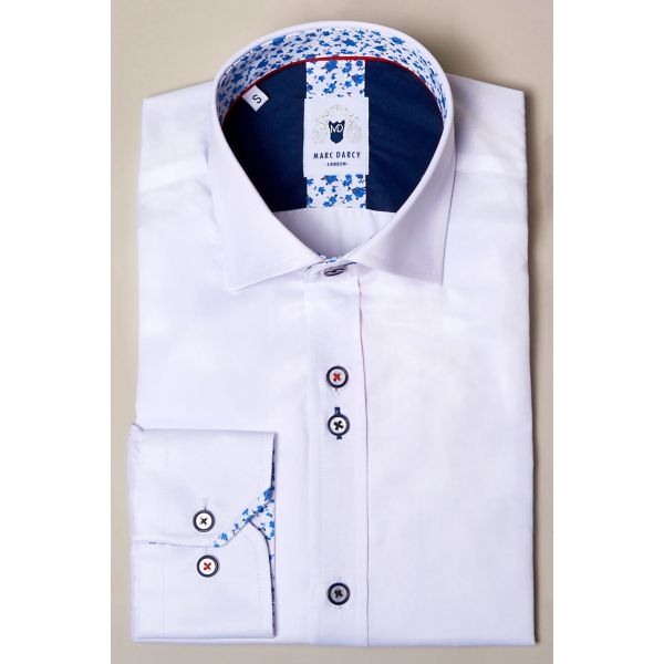 Marc Darcy Alfie White Long Sleeve Shirt