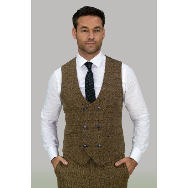 Cavani Ascari Tweed Waistcoat