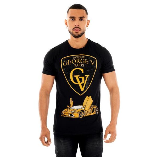Black Lambo Print T-Shirt