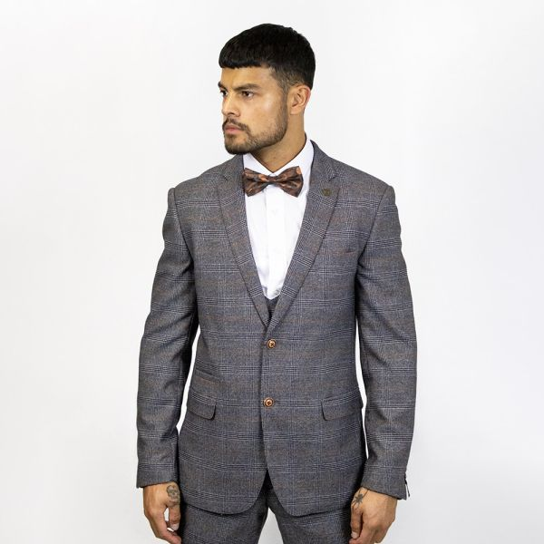 Marc Darcy Jenson Grey Check Blazer