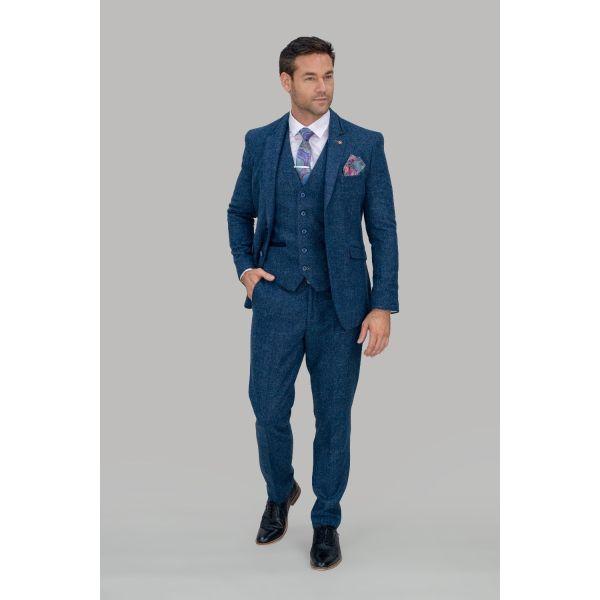 Cavani Carnegi Navy Tweed Suit