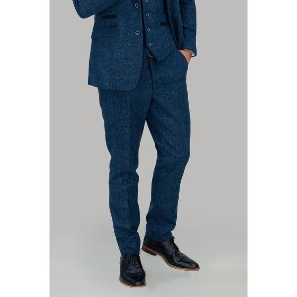 Cavani Carnegi Navy Tweed Trousers