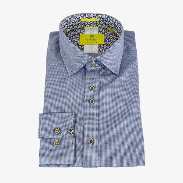 Cavani AXL Blue Premium Cotton Shirt