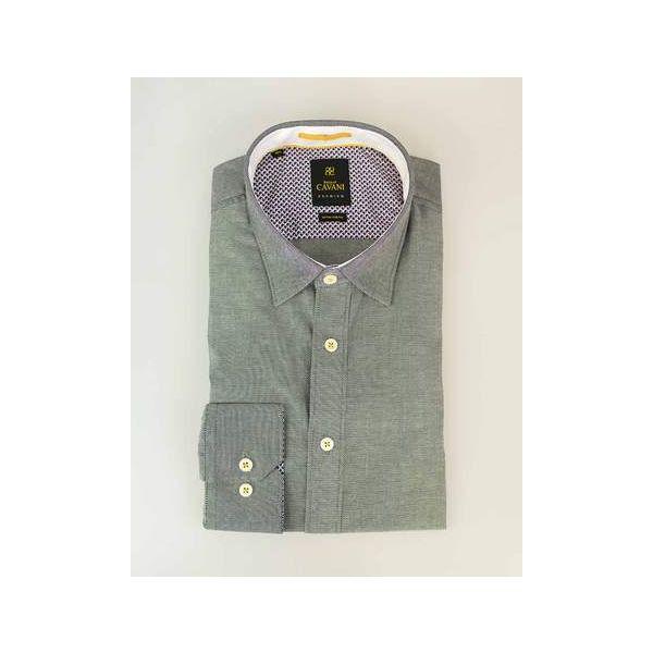 Cavani Oxford 65 Black Stretch Shirt