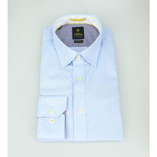 Cavani Oxford 65 Light Blue Stretch Shirt