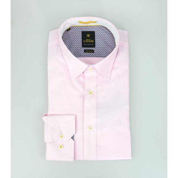 Cavani Oxford 65 Pink Stretch Shirt