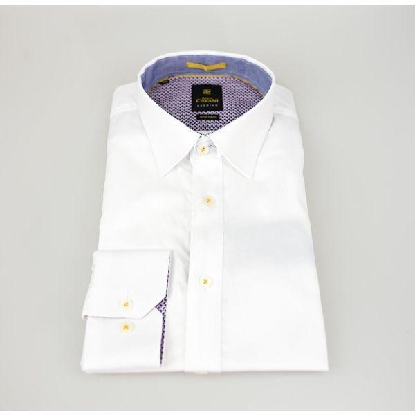 Cavani Oxford 65 White Stretch Shirt