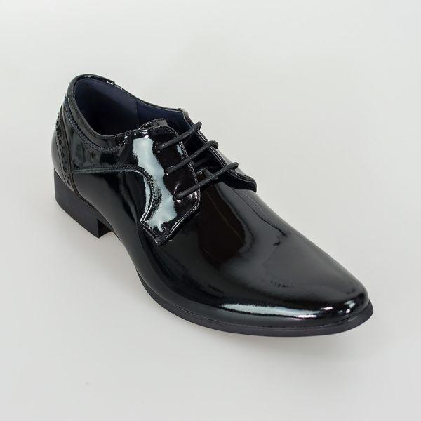 Cavani Scott Black Patent Shoes