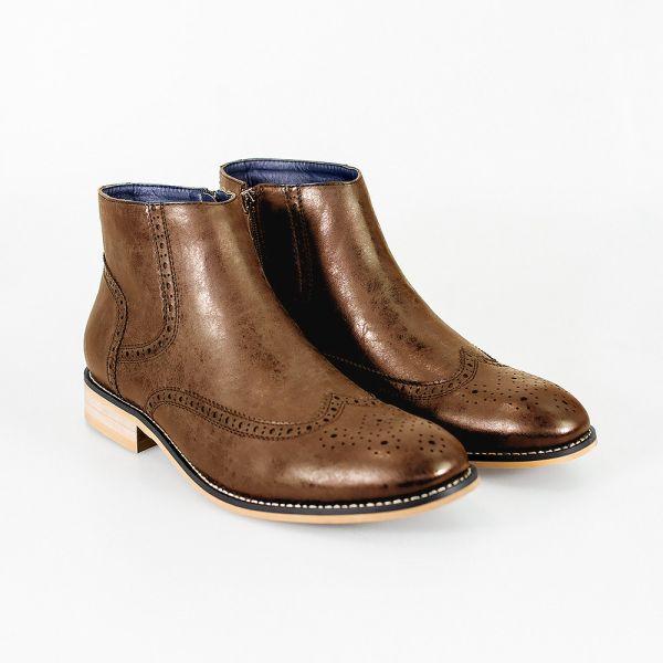 Cavani Westland Tan Chelsea Boots