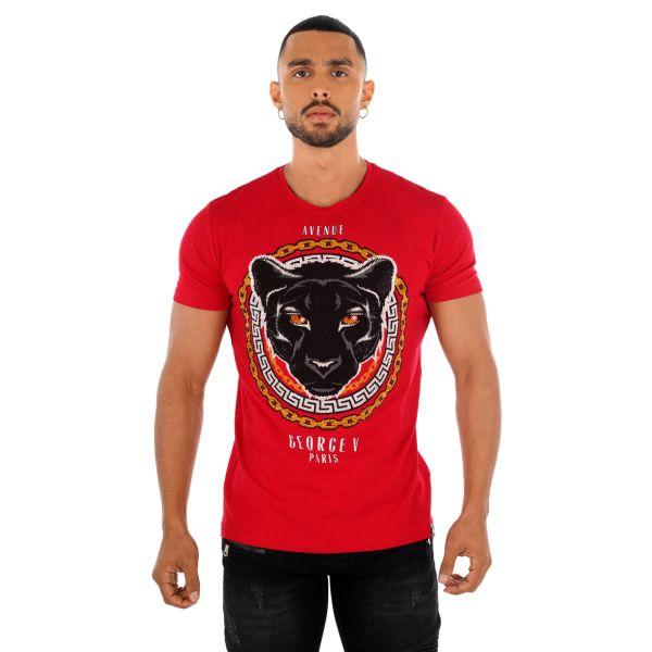 Red Panther Print T-Shirt