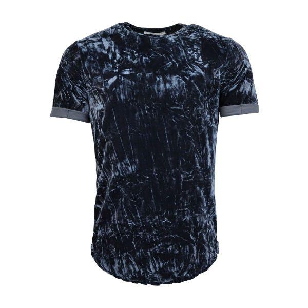 Blue Velvet Crew Neck T-Shirt
