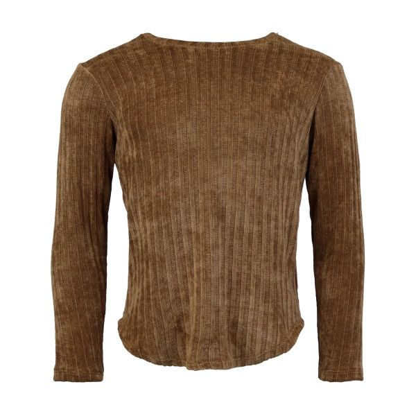 Tan Chenille Long Sleeve Top