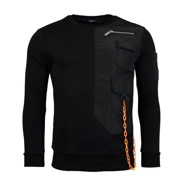 Black and Orange Statement Chain Sweatshirt