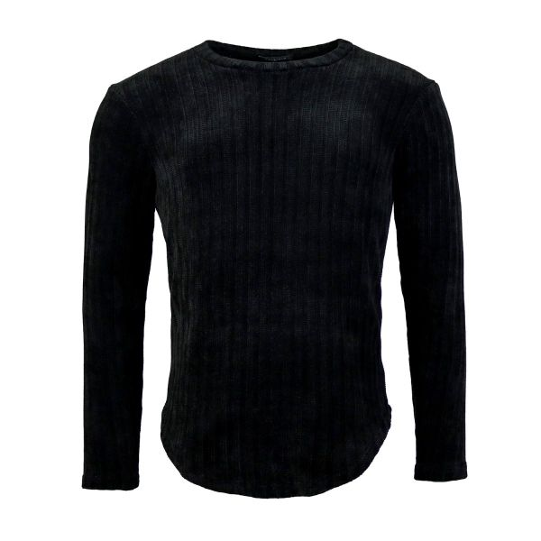 Black Chenille Long Sleeve Top