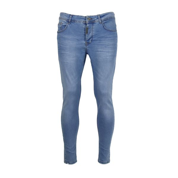 Light Blue Plain Skinny Fit Jeans