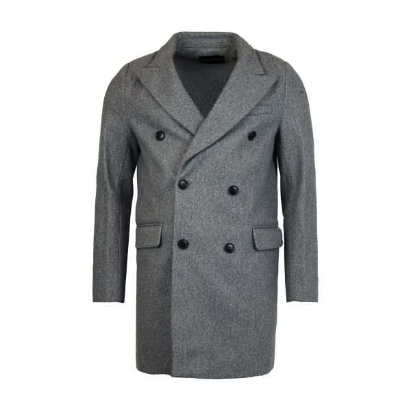 Grey Classic Fit Overcoat