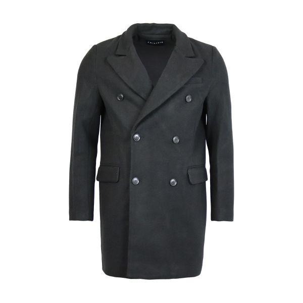 Black Classic Fit Overcoat