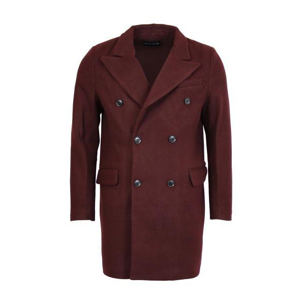 Burgundy Classic Fit Overcoat