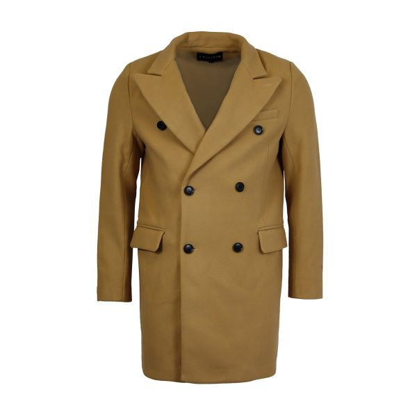 Camel Classic Fit Overcoat