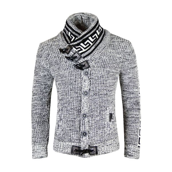 White Patterned Knitted Detailing Foldable Knitwear