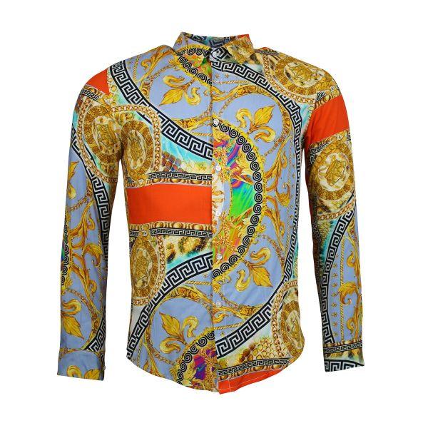 Multi-Coloured Long Sleeve Printed Shirt