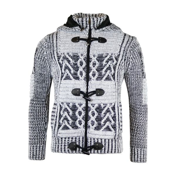 Black And White Patterned Knit