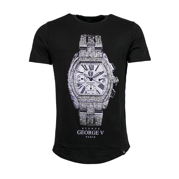Black Watch Diamonte Crew Neck T-Shirt
