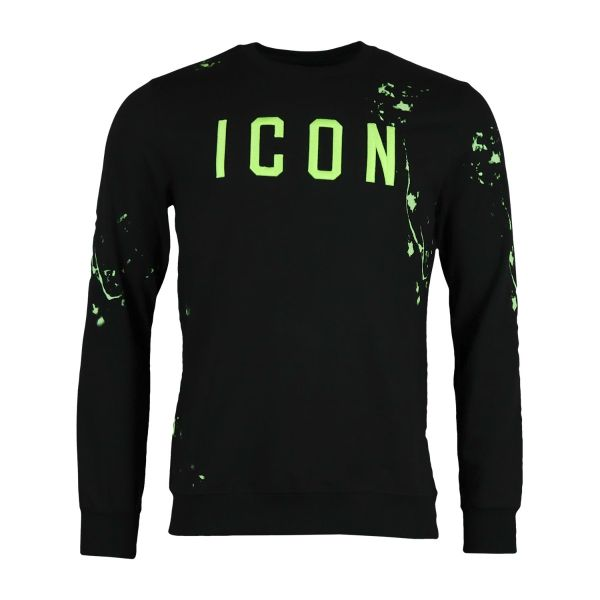 Black Paint Splat Inspired Sweatshirt