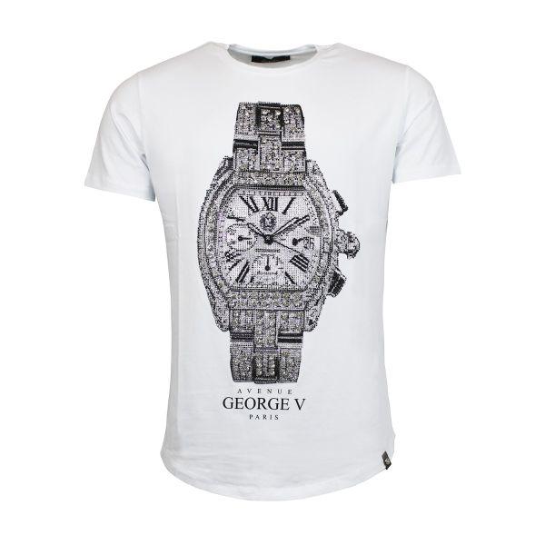 White Watch Diamonte Crew Neck T-Shirt