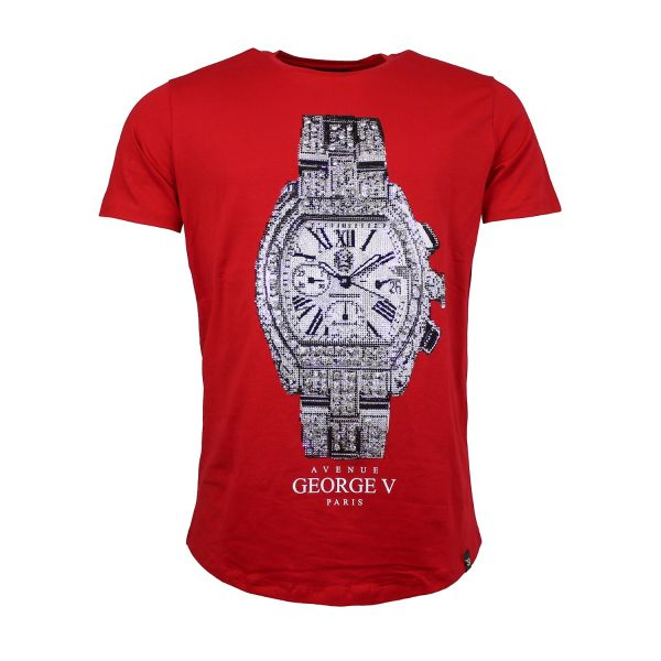 Red Watch Diamonte Crew Neck T-Shirt
