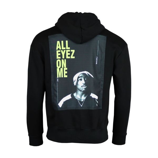 Black 'All Eyez On Me' Quoted Hoodie