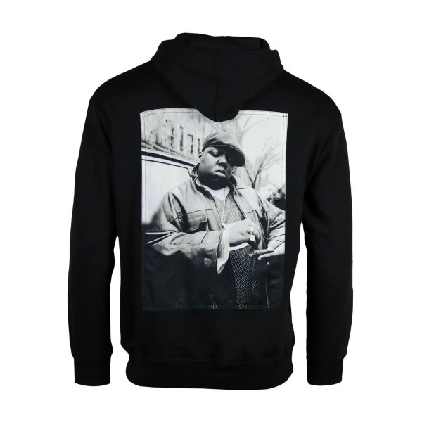 Black 'Biggie' Printed Hoodie