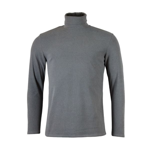 Grey Regular Soft Touch Turtle Neck Top