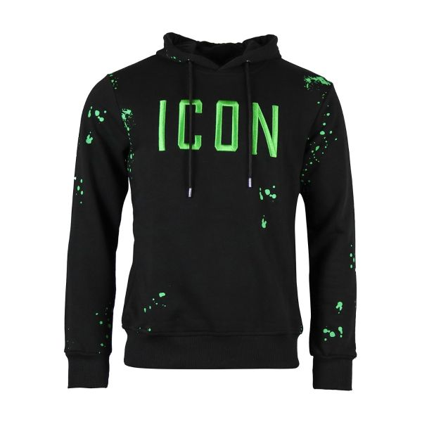 Black And Neon Green Inspired Hoodie