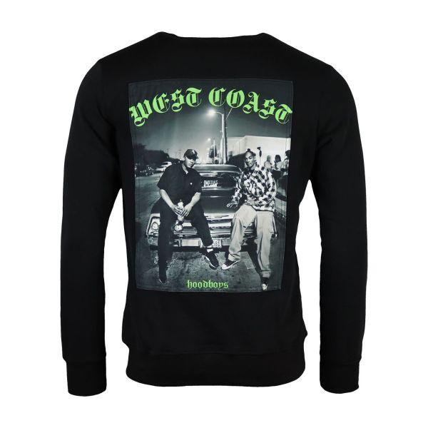 Black 'West Coast' Printed Sweatshirt