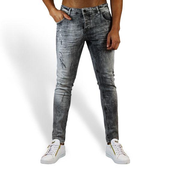 Light Grey Distressed Jeans
