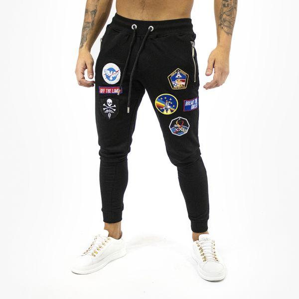 Black Badged Detail Slim Fit Joggers