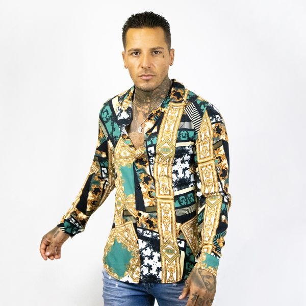 Multi-Coloured Long Sleeve Buttoned Shirt