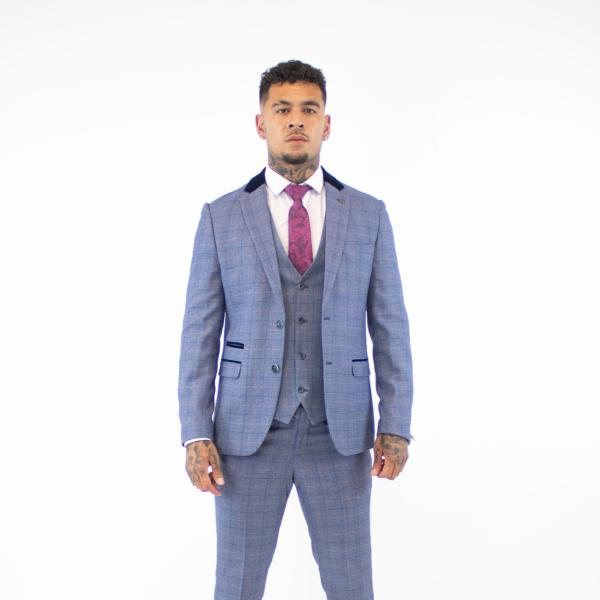 Marc Darcy Hilton Blue Tweed Blazer
