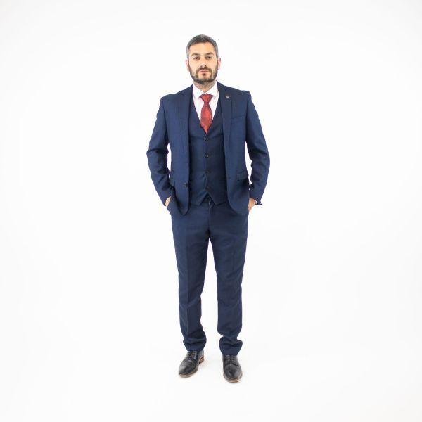 Marc Darcy Callum Blue Three Piece Suit