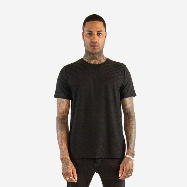 Black Chevron Pattern T-Shirt