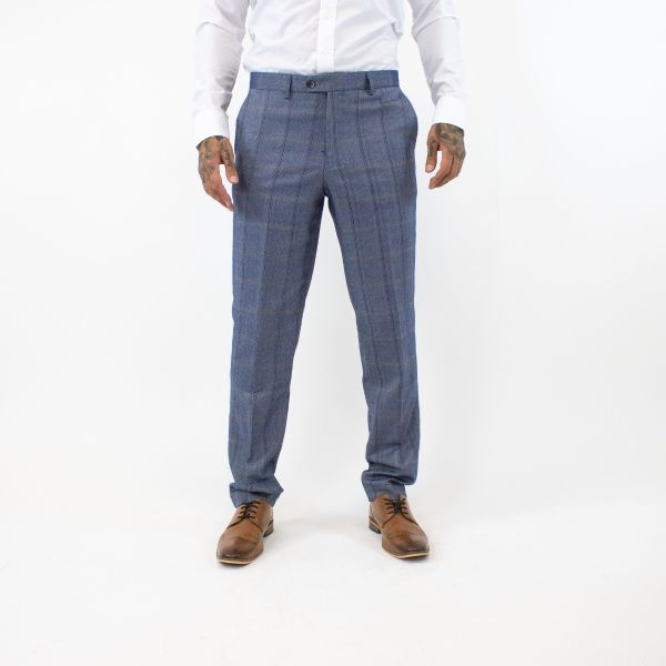 Cavani Connall Blue Tweed Trousers