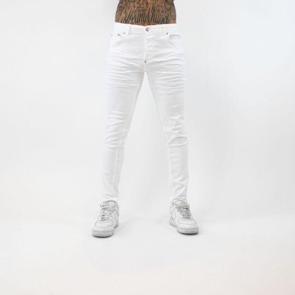 Grazed White Jeans