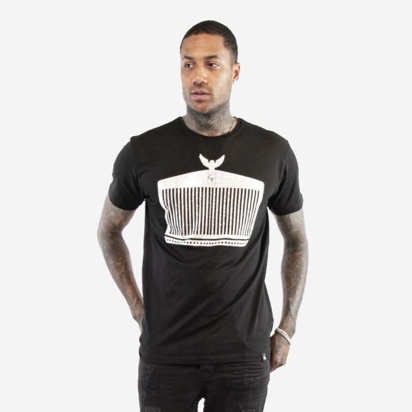 Black and Silver Rolls Royce Diamonte T-shirt