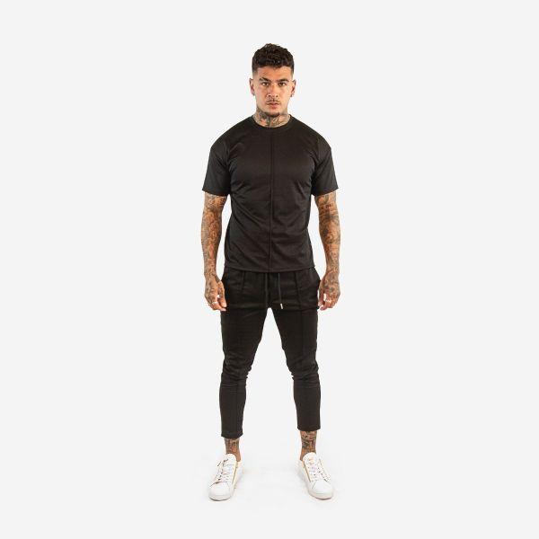 Black T-Shirt Joggers Set